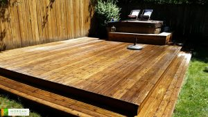 Deck Stain After - Seattle Handyman Services