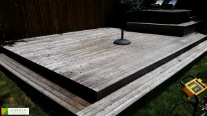 Deck Stain Before - Seattle Handyman Services